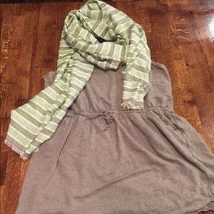 Long Cynthia Rowley tank and Scarf bundle